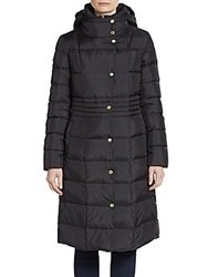 Cole Haan Quilted Long Puffer Coat Black