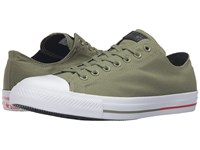 Converse Chuck Taylor All Star Shield Canvas Ox Fatigue Green White Signal Red Lace Up Casual Shoes