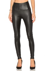 Mlml High Waisted Leather Legging Black