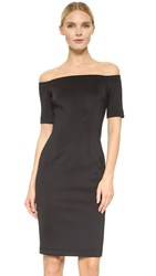 Yigal Azrouel Scuba Off Shoulder Dress Jet