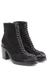 Mcq By Alexander Mcqueen Suede Ankle Boots Black