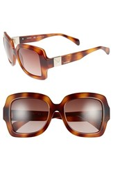 Women's Valentino 'Superstud' 54Mm Retro Sunglasses Havana
