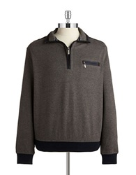 Bugatti Quarter Zip Sweater Brown