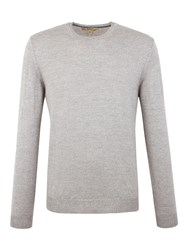 Gibson Crew Neck Merino Jumper Light Grey