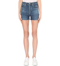 Alexa Chung For Ag High Rise Denim Shorts Dare