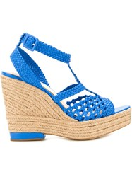Paloma Barcelo Wedged Sandals Blue