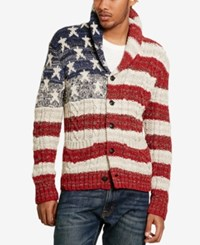 Denim And Supply Ralph Lauren Men's Graphic Print Cardigan Flag