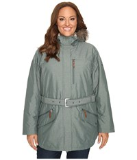 Columbia Plus Size Carson Pass Ii Jacket Pond Women's Coat Green