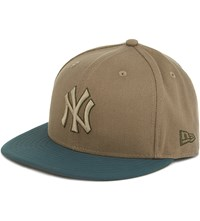 New Era 59Fifty York Yankees Fitted Cap Stone Rifle Green