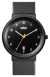 Men's Braun 'Classic' Mesh Strap Watch 40Mm