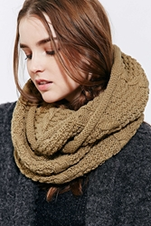 Bickley Mitchell Cable Knit Eternity Scarf Dark Green