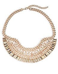 Panacea Multi Chain Bib Necklace Gold