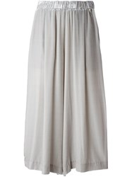 Twin Set Pleated Cropped Trousers Grey