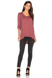 Wilt Mixed Panel Tunic Top Burgundy