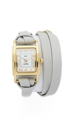 La Mer Leather Wrap Watch Stone