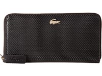 Lacoste Chantaco Large Zip Wallet Black Fig Wallet Handbags