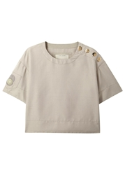 Marc Jacobs Sand Cropped Silk Shantung Top