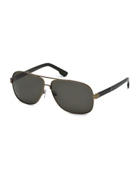 Diesel Aviator 63Mm Sunglasses Gold