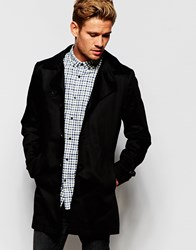 Selected Homme Trench Coat Black