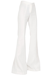 Gareth Pugh Cady Silk High Waisted Palazzo Trousers Ivory
