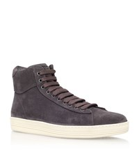 Tom Ford Russel High Top Sneaker Male Brown
