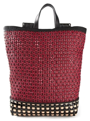 Marni Woven Backpack Red