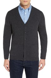 Nordstrom Men's Big And Tall Men's Shop Cashmere Cardigan Grey Dark Charcoal Heather