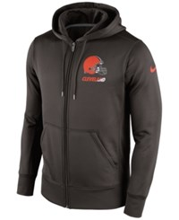 Nike Men's Cleveland Browns Sideline Ko Fleece Full Zip Hoodie