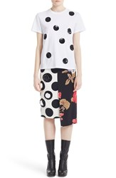 Msgm Women's Sequin Polka Dot Cotton Tee