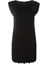 Jay Ahr Origami Shift Dress Black