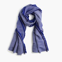 J.Crew Fringe Scarf In Cobalt Sea