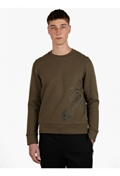 Christopher Raeburn Men's Olive Graphic Military Print Sweatshirt
