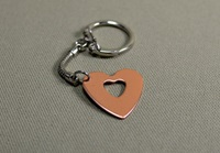 Heart Keychain Copper Heart Keychain Mothers Day By Nicilaskin