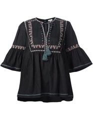 Talitha Embroidered Details Tunic Black