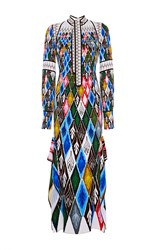 Peter Pilotto Argyle Long Sleeve Gown Print
