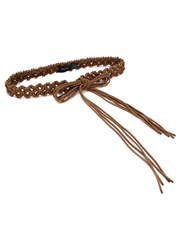 Simone Rocha Braided Cord Belt Brown