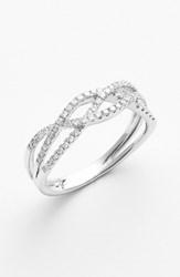 Women's Bony Levy Braided Diamond Ring White Gold Nordstrom Exclusive
