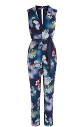 Oasis Photographic Jumpsuit Blue Multi