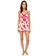 Kate Spade Charmeuse Romper Bella Rose Women's Jumpsuit And Rompers One Piece White