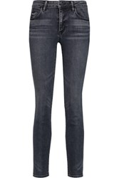 Helmut Lang Mid Rise Skinny Jeans Anthracite