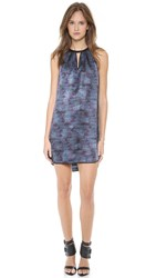 Rebecca Taylor Stained Glass Halter Dress Blue