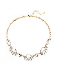 Chesca Crystal Fan Short Necklace