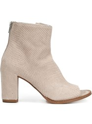 Officine Creative Open Toe Ankle Boots White
