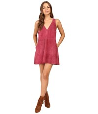 Free People Retro Love Suede Dress Rose Women's Dress Pink