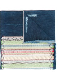 Ermanno Gallamini Patched Shawl Blue