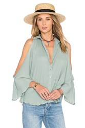 Mara Hoffman Open Shoulder Top Sage