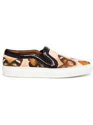 Givenchy Butterfly Print Skater Sneakers Multicolour