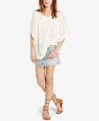 Denim And Supply Ralph Lauren Off The Shoulder Gauze Blouse Antique Cream