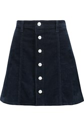 Ag Jeans Alexa Chung Kety Stretch Corduroy Mini Skirt Blue