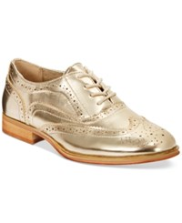 Wanted Babe Lace Up Oxfords Women's Shoes Gold